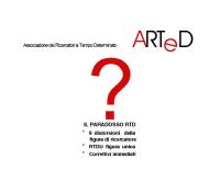 ARTeD e il Paradosso RTD
